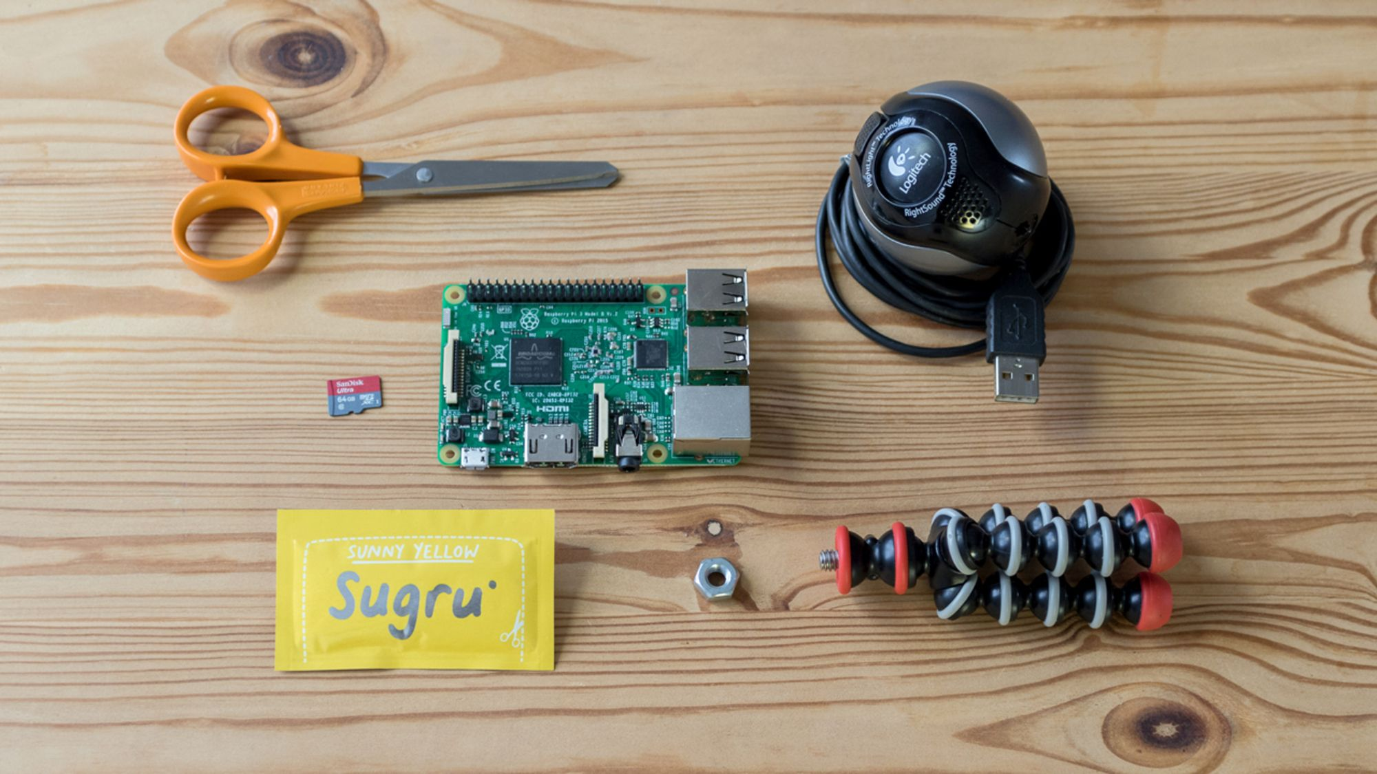 How To Build Your Own Iot Camera Sugru Circuit Scissors Old Webcam Sd Card Raspberry Pi 1 Single Use Pack Of