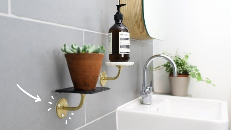 Six9 800 bathroom shelves arrow