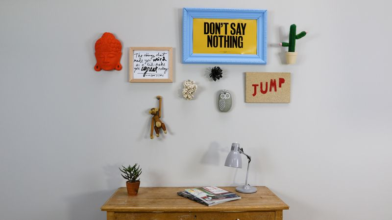 Hang Things Without Nails Part - 44: Personal Objects On A Creative Wall